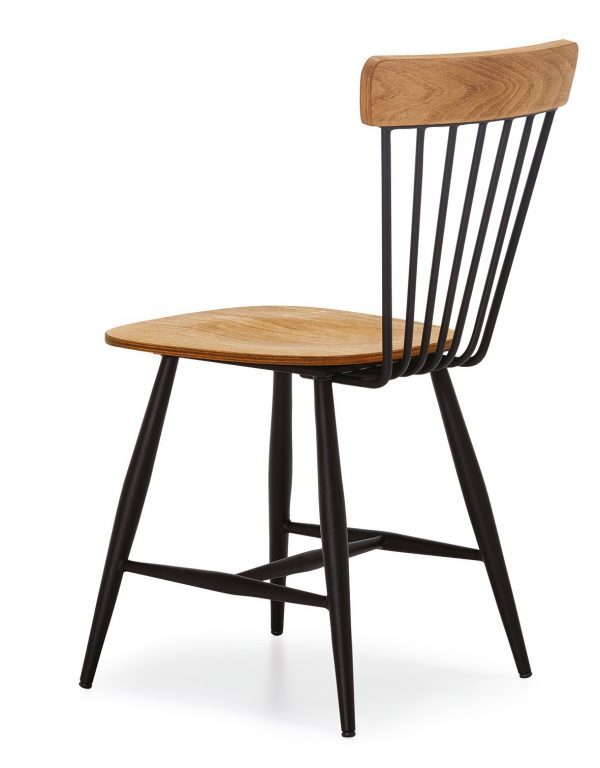 DCS-109-Metal-Dining-Chair-With-Wooden-Seat-2
