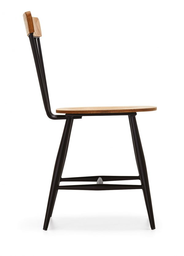DCS-109-Metal-Dining-Chair-With-Wooden-Seat-4