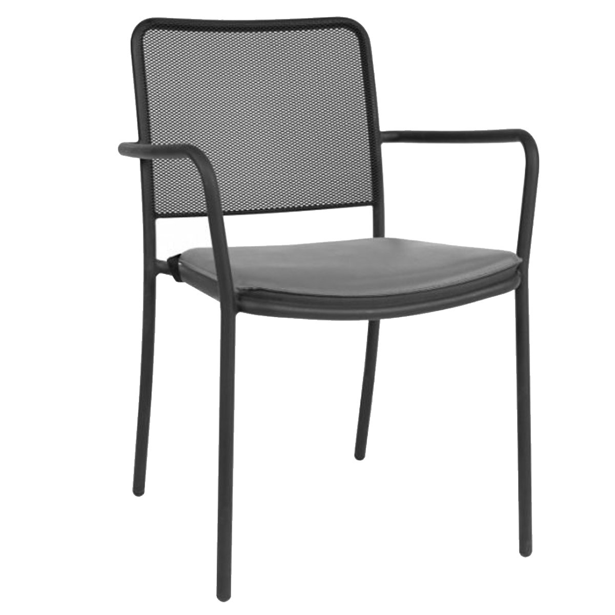 Mesh Metal Stackable Dining Chair Neo 205 Metal Chairs