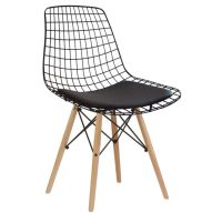 NEO-229-1-Padded-Wire-Metal-Chair-Wooden-Leg-1