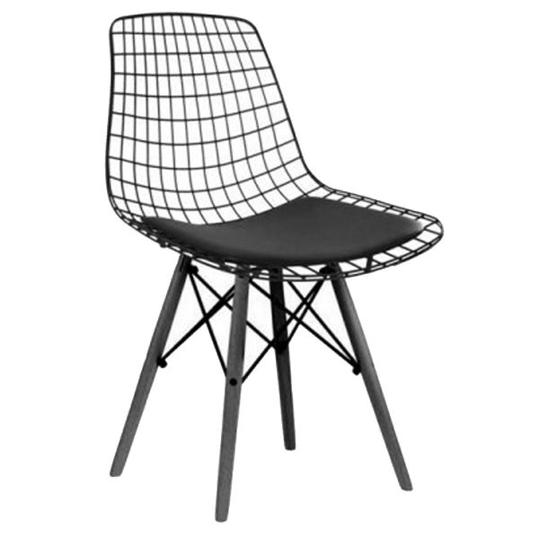 NEO-229-1-Padded-Wire-Metal-Chair-Wooden-Leg-2