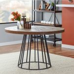 NEO-279-Round-Wood-And-Metal-Dining-Table-2