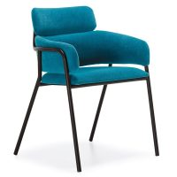 DCS-111 Upholstered Metal Armchair For Contract