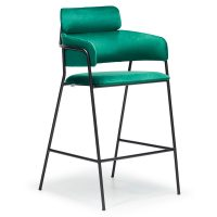 DCS-111B Metal Upholstered Bar Stool