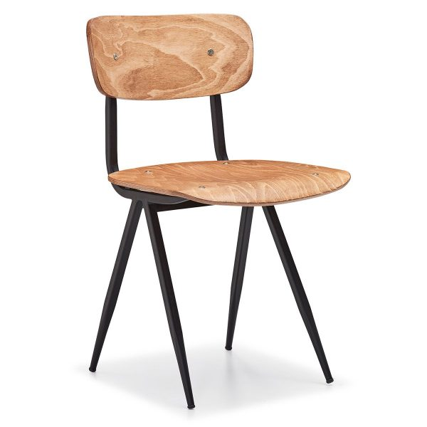 DCS-115 Metal and Wooden Chair-1
