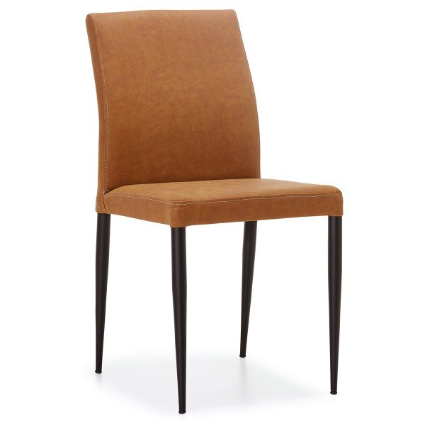 DCS-118 Upholstered Dining Chair With Metal Legs-1