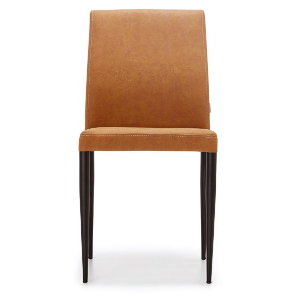 DCS-118 Upholstered Dining Chair With Metal Legs-2