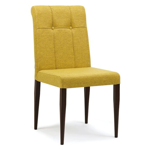 DCS-120 Upholstered Quilted Metal Dining Chair