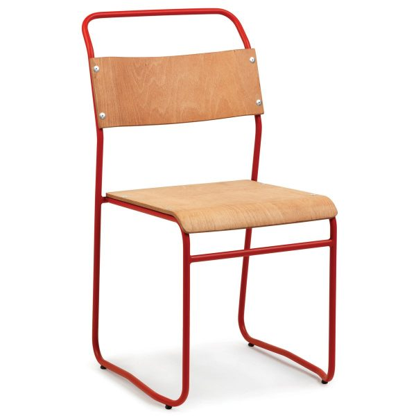 DCS-122 Metal Chair With Plywood Seat-1