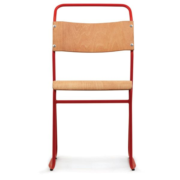DCS-122 Metal Chair With Plywood Seat-2