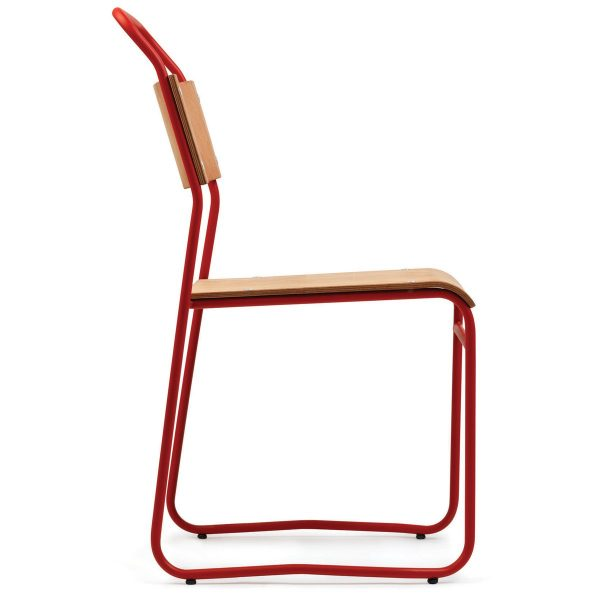 DCS-122 Metal Chair With Plywood Seat-3