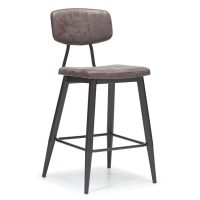 DCS-124B Upholstered Metal Bar Stool