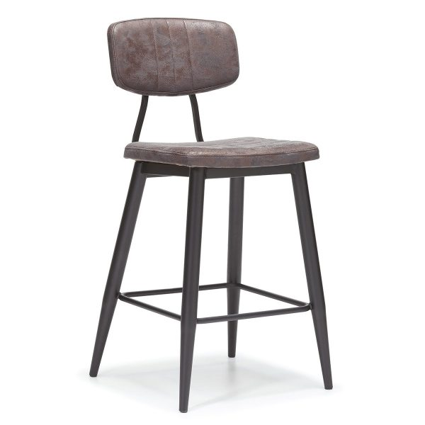 DCS-124B Upholstered Metal Bar Stool-1