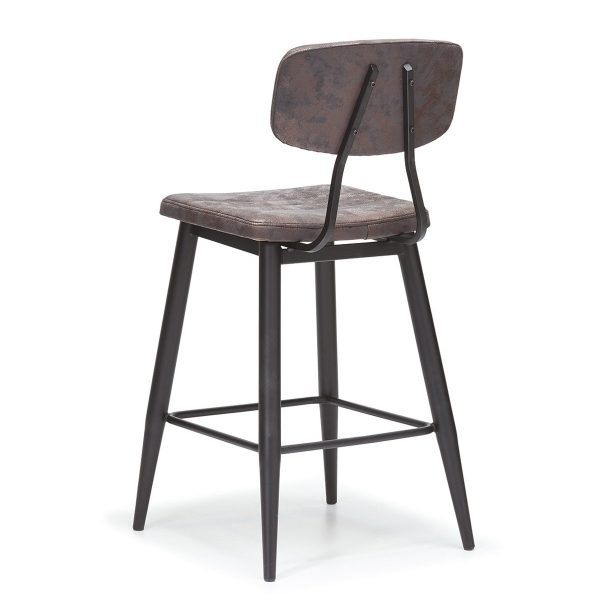 DCS-124B Upholstered Metal Bar Stool-2