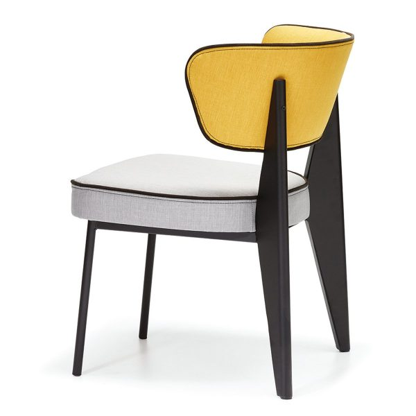 DCS-128 Upholstered Metal Chair For Restaurant-3