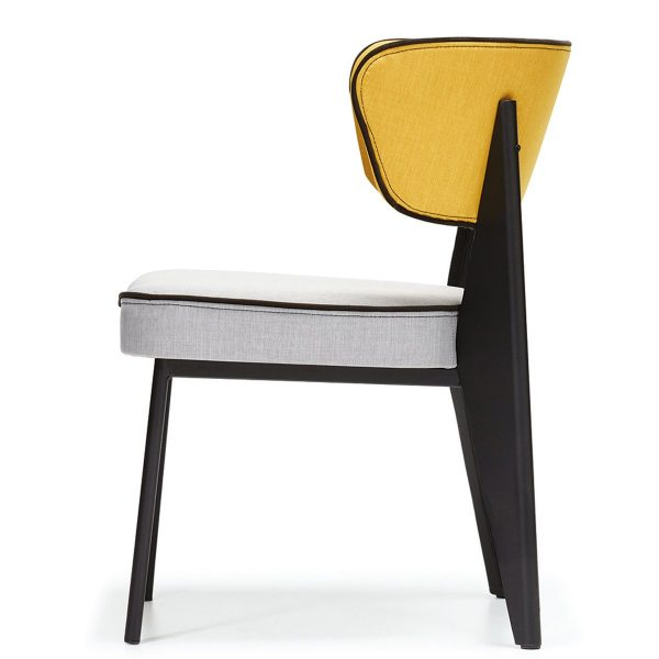 DCS-128 Upholstered Metal Chair For Restaurant-4