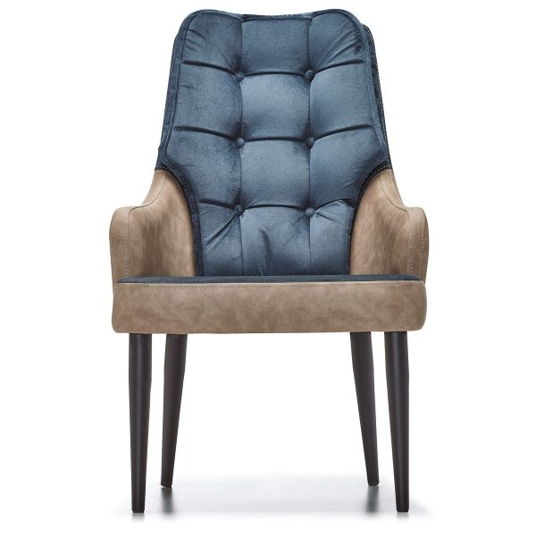 DCS-134P Upholstered Tufted Bergere With Metal Leg-1