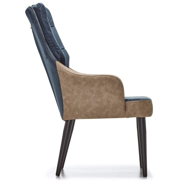 DCS-134P Upholstered Tufted Bergere With Metal Leg-2