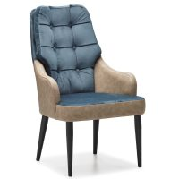 DCS-134P Upholstered Tufted Bergere With Metal Leg