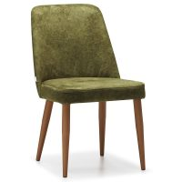 DCS-142 Upholstered Metal Chair With Conical Legs